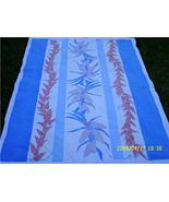 Charming 1950's PINK CORNSTALK and PEPPERS with Cobalt Blue Detail Table... - $28.00