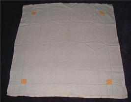 LoVely Vintage Linen Yellow Block and Polka Dot Design TABLECLOTH WoW! - $14.00