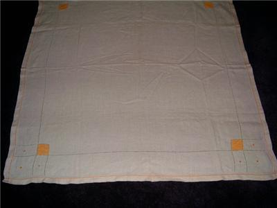 LoVely Vintage Linen Block & DOT Design TABLECLOTH WoW!