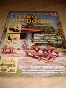 2- 50's HOW TO LIVING Outdoors & OUTDOOR Living Rooms!