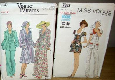 2 Vintage VOGUE EVENING DRESS & MINI SKIRT / PANT SUIT!