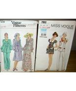 2 Vintage VOGUE EVENING DRESS & MINI SKIRT / PANT SUIT! - $16.99