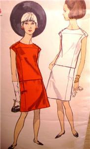 2 Vintage VOGUE Patterns ~ MoD DRESSES! #6294 & #7162!