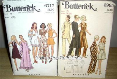 2 BUTTERICK MoD 1pc EVENING Dress/PANTS + Dress/SHAWL!!