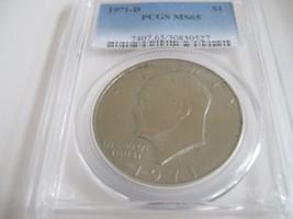 1971-D , Eisenhower Dollar , PCGS , MS 65 - $74.25