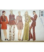 Groovy Vintage Miss VOGUE MoD EVENING DRESS, TUNIC, VEST and PANT #7860 ... - $12.00