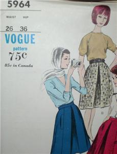 2 Vintage VOGUE ~ DRESS BLOUSE SHORTS & SCARF PATTERN!!