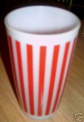 Darling Retro Achor Hocking~ RED & WHITE Stripe TUMBLER