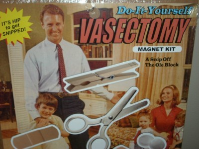 Sooo FUN BLUE Q DO IT YOURSELF VASECTOMY HUMOR MAGNETS!