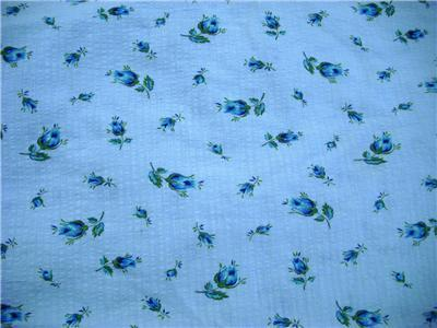 DARLING 50's NEVA SLIP Duvet Cover Blue ROSES/ROSEBUDS!