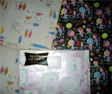 WoW DARLING Vintage Gift Wrap WRAPPING PAPER SHEETS!!!!