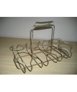 Swell Vintage 1950's Mid Century MODERN Portable WIRE 8 Section GLASS Ca... - $16.00