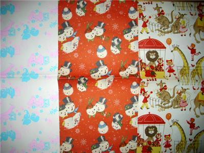 Primary image for DARLIN 1950's/1960's Retro 3pc Gift Wrap WRAPPING PAPER SHEETS!!!