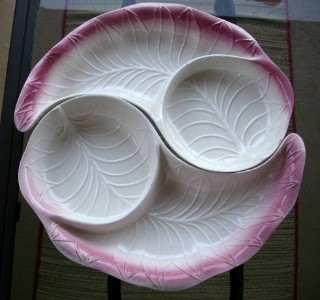 LoVely EAMES ERA 3DTexture PINK/WHT APPETIZER SERVE SET