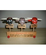 50's HUGE Figural STEER HEAD BBQ Barbecue MEAT MARKERS! - $19.99