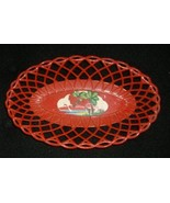 LoVely Vintage RED PLASMETL Plastic FRUIT/BREAD Basket! - $12.99