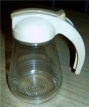 Cream 50's Ringed Federal Tool Pancake Syrup Pitcher!! - $12.99