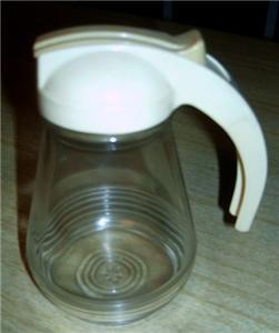 Cream 50's Ringed Federal Tool PANCAKE Syrup PITCHER!!