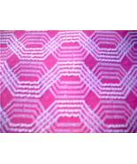 Sooo FUN Vintage MODERN PINK & WHITE 51' x 70' Fabric!! - $14.99