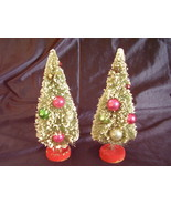 Vintage Bottle Brush Christmas Trees Mercury Garland Lot of 2 - $45.00