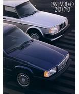 1991 Volvo SEDANS brochure catalog US 91 240 740 Turbo - $8.00