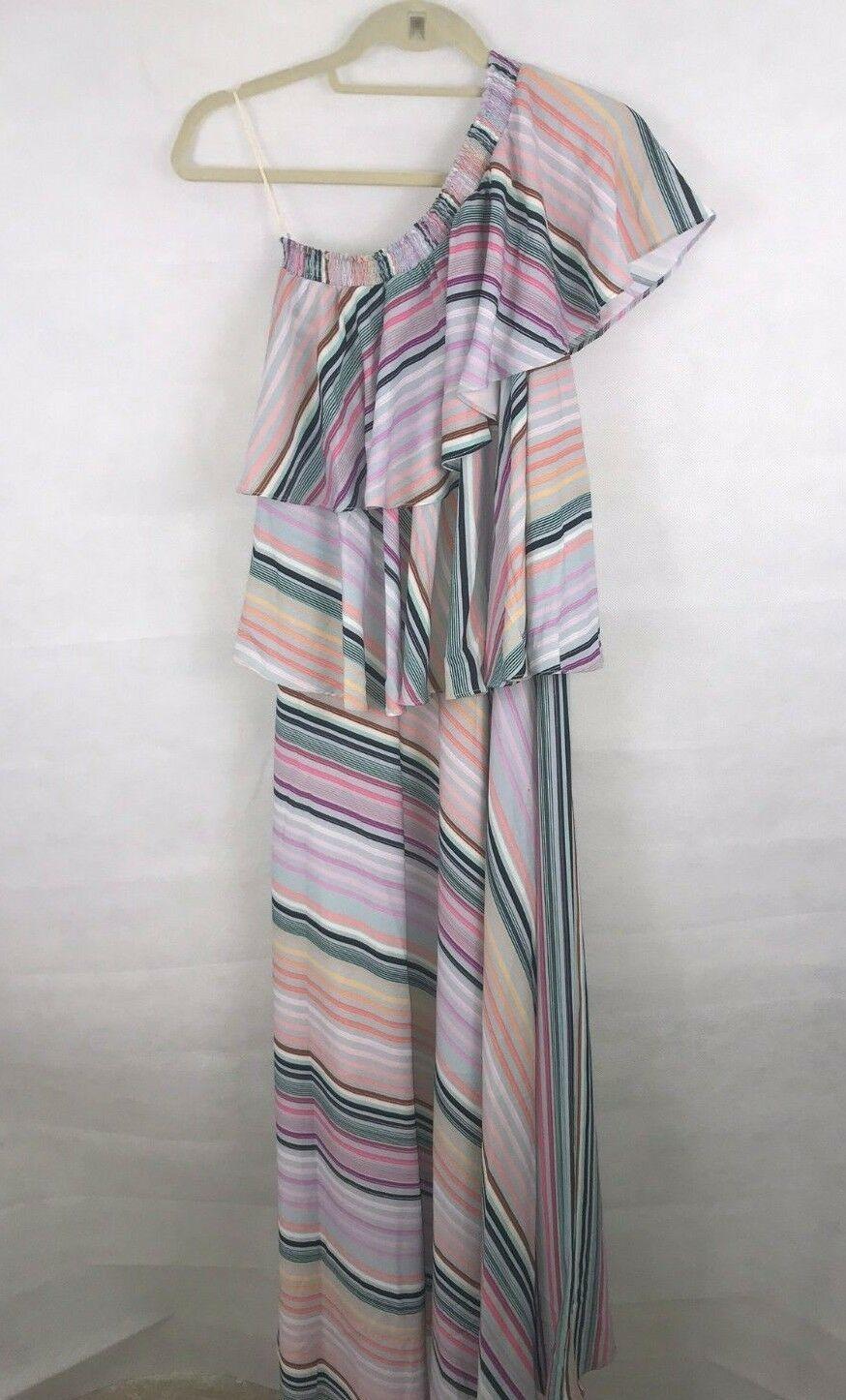 Anthropologie Rainbow Ruffled Maxi Dress by Guapa $258 - NWT