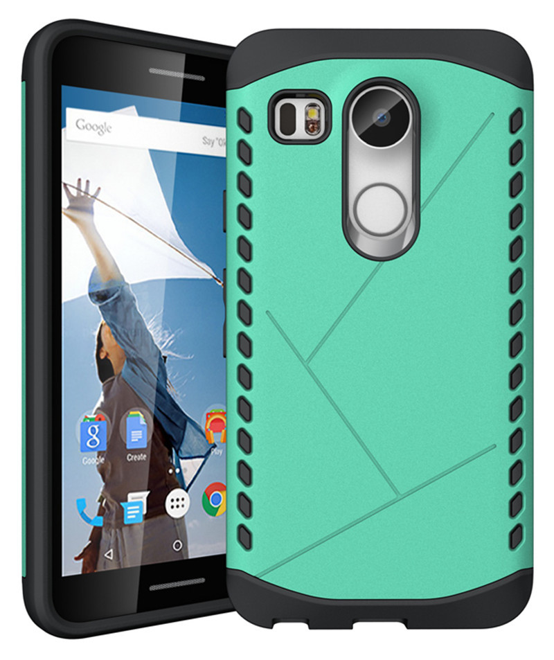 Ybrid dual layer rugged shockproof protective case cover for lg nexus 5x cyan p20160116154601951