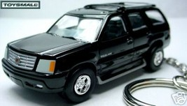 KEY CHAIN RING BLACK CADILLAC ESCALADE SUV 4X4 KEYRING  - $34.95