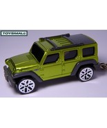 KEY CHAIN RING NEW JEEP WRANGLER RESCUE GREEN SUV 4X4  - $33.93