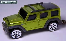 KEY CHAIN RING NEW NICE JEEP WRANGLER RESCUE GREEN 4X4  - $33.93