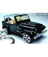 KEY CHAIN RING RARE JEEP WRANGLER BLACK KEYRING 4x4 NEW - $49.95