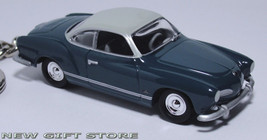 KEY CHAIN RING VW VOLKSWAGEN KARMANN GHIA GREEN & WHITE - $35.95