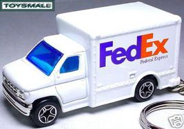 KEY CHAIN RING WHITE FEDEX FEDERAL EXPRESS VAN TRUCK !! - $34.95