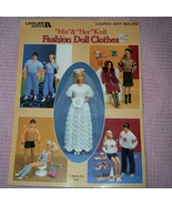 Leisure Arts His & Her Knit Fashion Doll Clothes Leaflet 341 - $12.50
