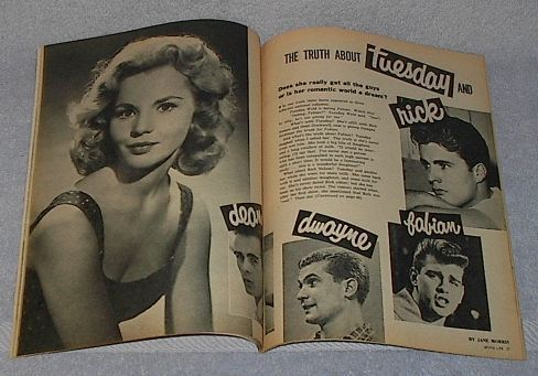 Ideal Movie Life Magazine October 1959 Television Weld Hickman Avalon