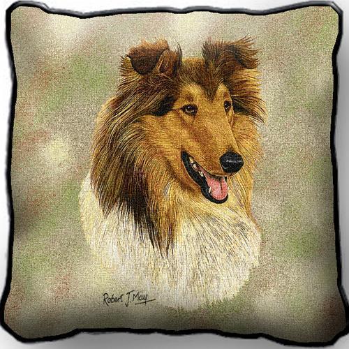Rough collie pillow  2350 p