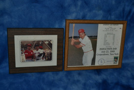 JOHNNY BENCH HOF INDUCTION DAY 8x10 + JOHNNY BENCH LAMINATED PICTURE ON ... - $10.00