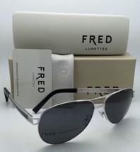 Nuevas Polarizadas Fred Lunettes Gafas de Sol Hawai C6 8427 918 Paladio Plata