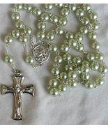 Peridot metal pearls Rosary - $34.00