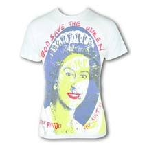 Sex Pistols - Save Her-Monster Print - Large White T-shirt - $19.34