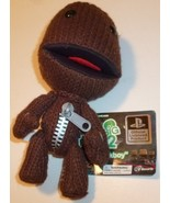 """LITTLE BIG PLANET 2 Plush SACKBOY knitted brown doll 7.5"""" with hang tag - $39.99"""