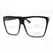 Super Oversized Eyeglasses Flat Top Square Clear Lens Glasses Frames - $8.95