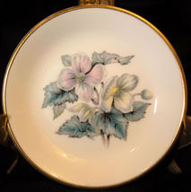"Royal Worcester Woodland Pin Dish Butter Pat 4""GOLD (2) - $9.26"