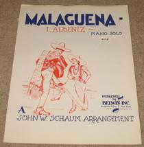 Malaguena Sheet Music - I. Albeniz- Piano Solo    - $8.99