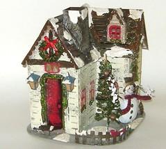 Kohls Metal House Christmas Lamp Candle Holder Large New - $18.00