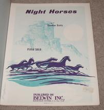 Night Horses Sheet Music Piano Solo - Gordon Getty    - $8.99