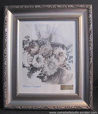 "Campbell Studio ""Flowers"" Signed & Numbered Framed Print"