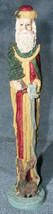 "Christmas Pencil Santa Figurine Windsor Collection Vtg 12"" w Long List R... - $24.99"