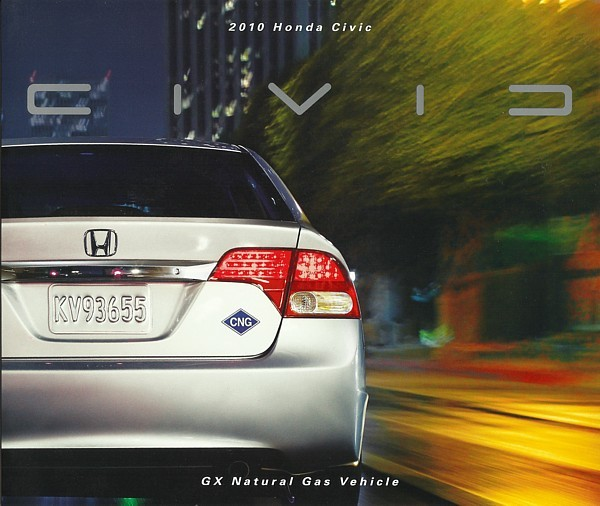 2010 Honda CIVIC GX CNG brochure catalog Natural Gas 10 US