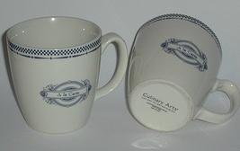 Two Elegant Culinary Arts Blue and White A La Carte China Mugs New - $11.00